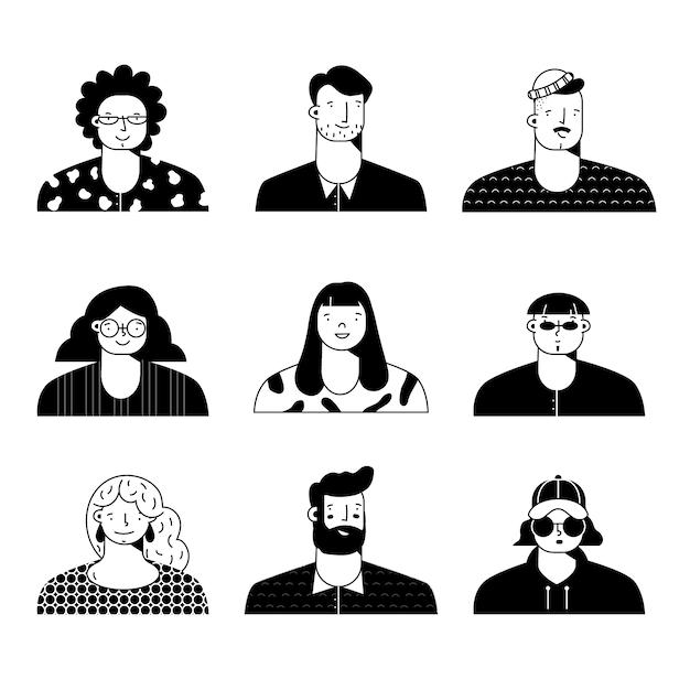 Illustration D'avatars De Personnes Vecteur gratuit