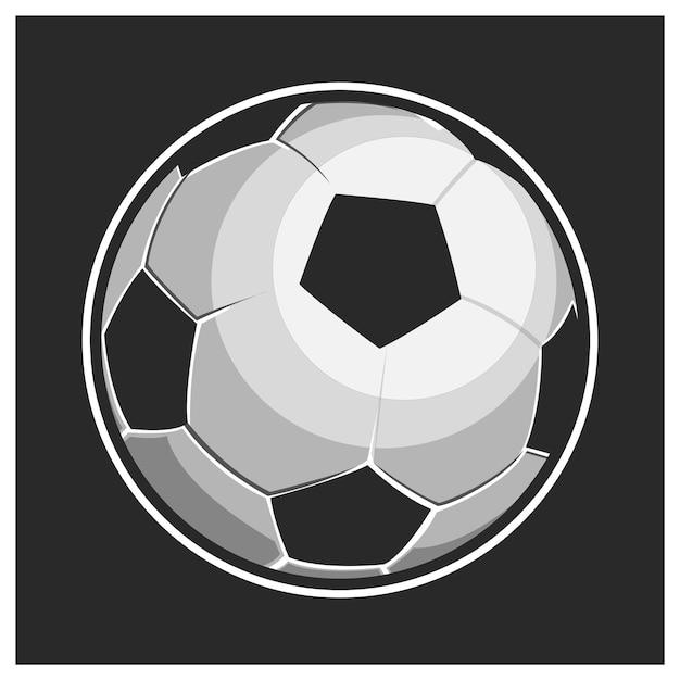 Illustration De Ballon De Football Issolated Vecteur Premium