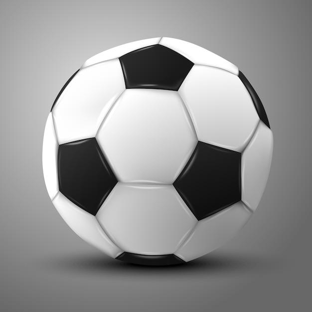 Illustration De Ballon De Football Vecteur Premium