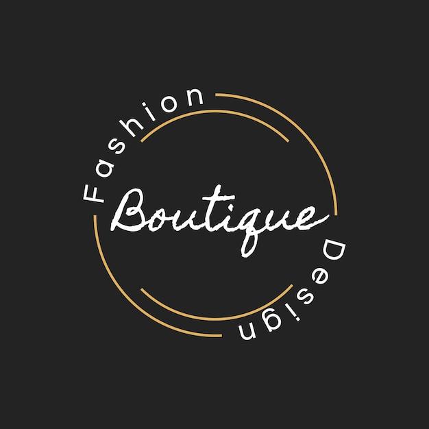 Illustration de la bannière boutique boutique logo timbre Vecteur gratuit