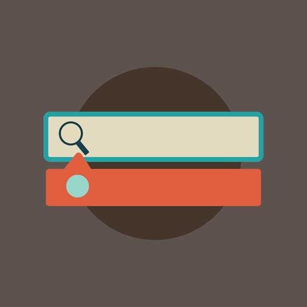 Illustration de la barre de recherche Vecteur gratuit