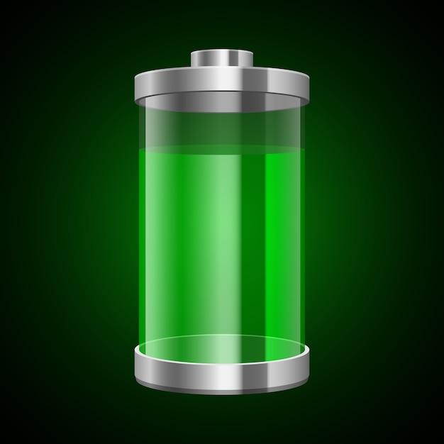 Illustration De Batterie Numérique Sur Fond Vecteur Premium
