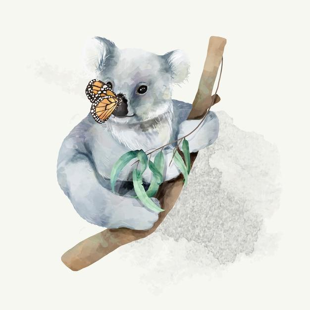 Illustration d'un bébé koala Vecteur Premium