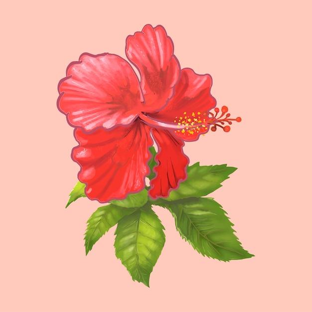 Illustration D Une Belle Fleur Rouge Telecharger Des Vecteurs Premium