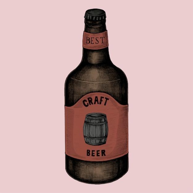Illustration d'une bière artisanale Vecteur Premium