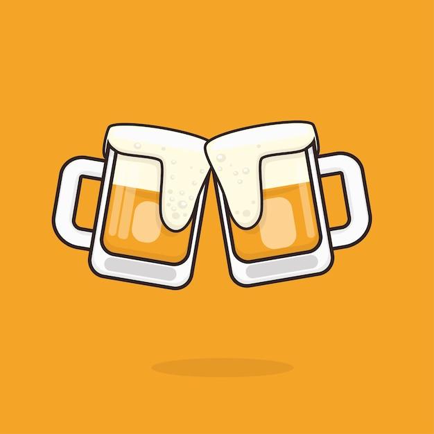 Illustration De La Bière Vecteur Premium