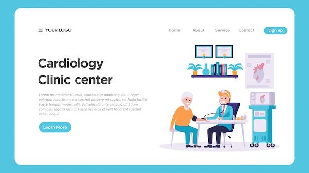 Illustration De Bilan Médical En Cardiologie Pour La Page Web Vecteur Premium