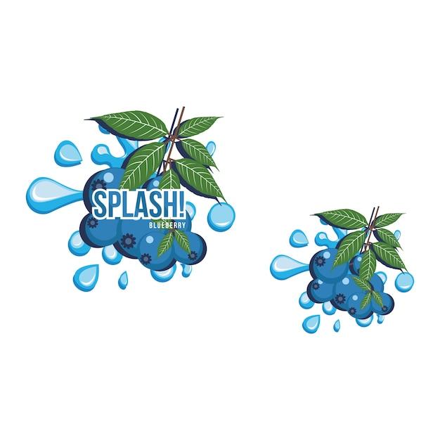 Illustration De La Boisson Au Jus De Fruits Frais Blue Blueberry Vecteur Premium