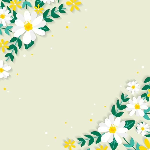Illustration de bordure florale de printemps Vecteur gratuit