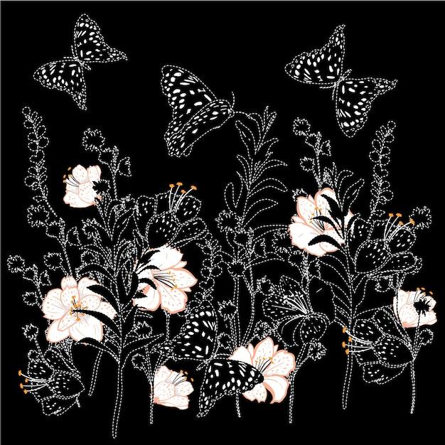 Illustration botanique vintage vector Vecteur Premium