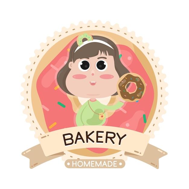 Illustration De Boulangerie étiquette Alimentaire Vecteur Premium