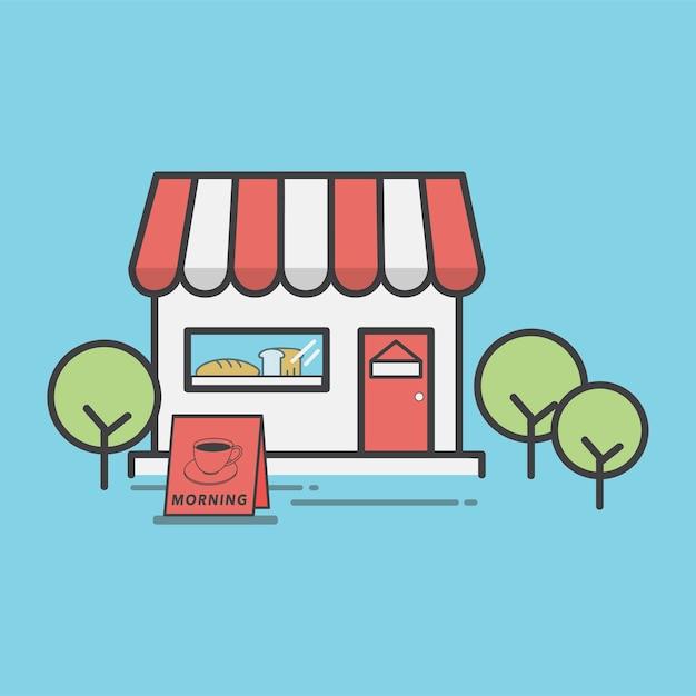 Illustration d'une boulangerie Vecteur gratuit