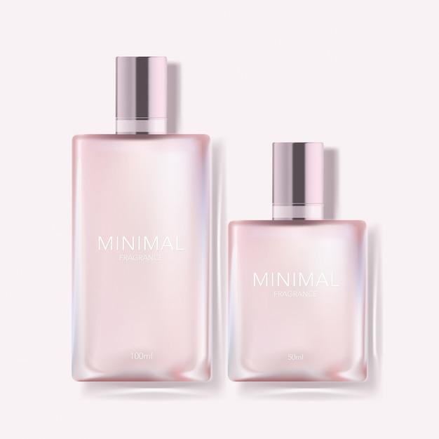 Illustration De Bouteille De Parfum Minimal Avec Capuchon Métallique Vecteur Premium