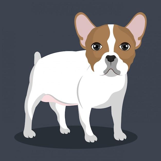 Illustration De Bulldog Debout Vecteur gratuit