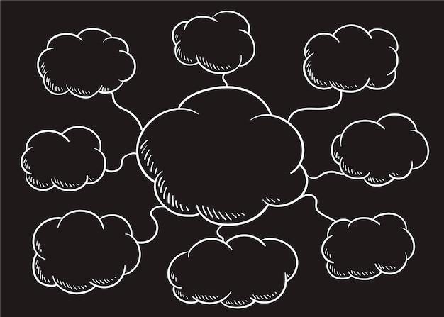 Illustration de bulle de discours nuage Vecteur gratuit