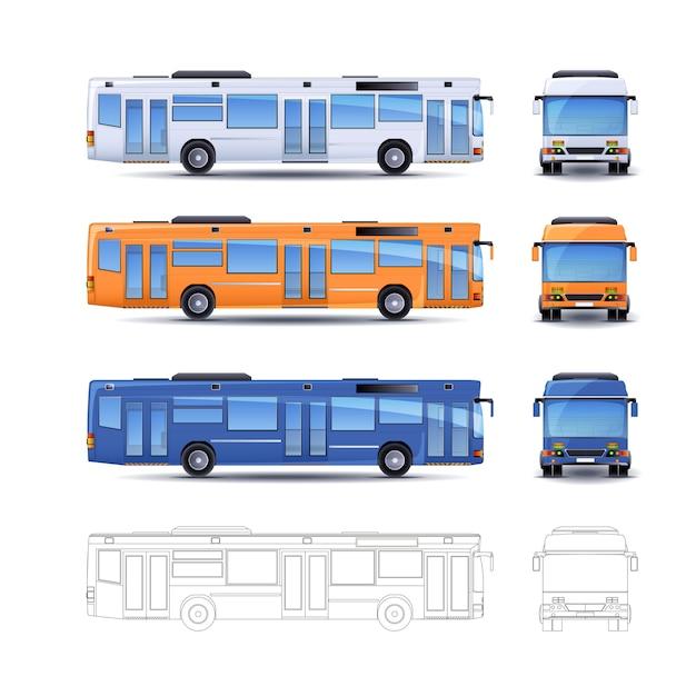 Illustration de bus de la ville Vecteur Premium