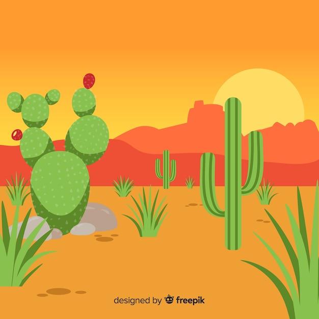 Illustration de cactus du désert Vecteur gratuit