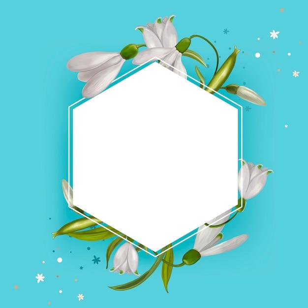 Illustration cadre floral maquette Vecteur gratuit