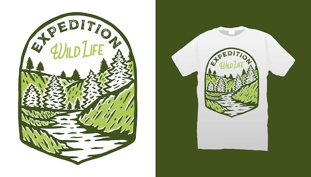 Illustration De Camping De Montagne Vecteur Premium