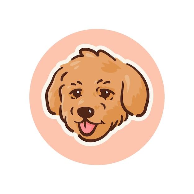 Illustration De Caniche Chien Mascotte, Parfait Pour Le Logo Ou La Mascotte Vecteur Premium