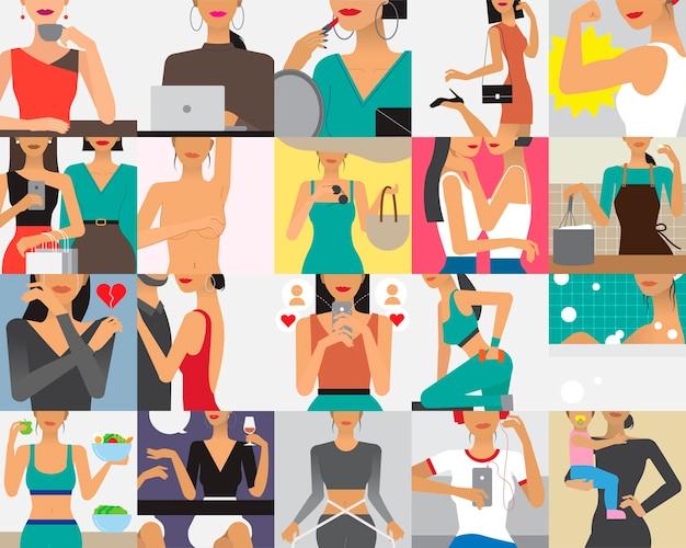 Illustration de caractère du style de vie de la femme Vecteur gratuit