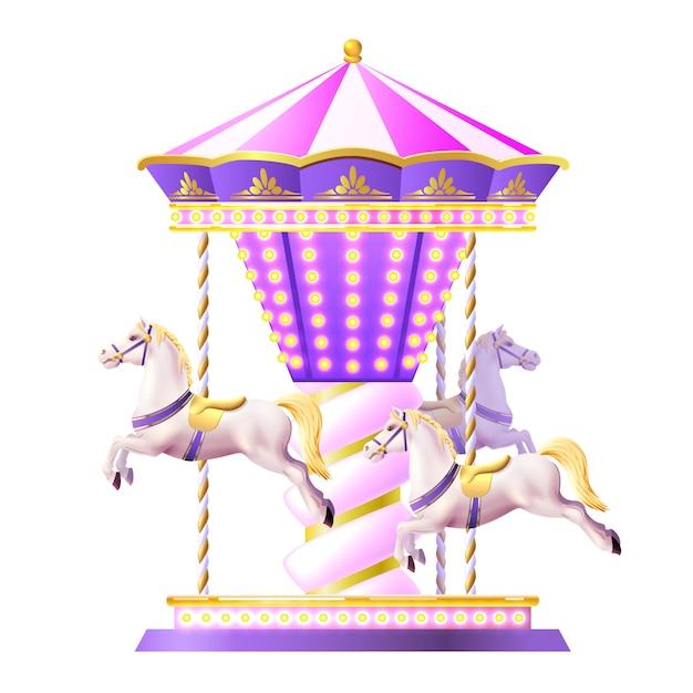 Illustration de carrousel rétro Vecteur gratuit