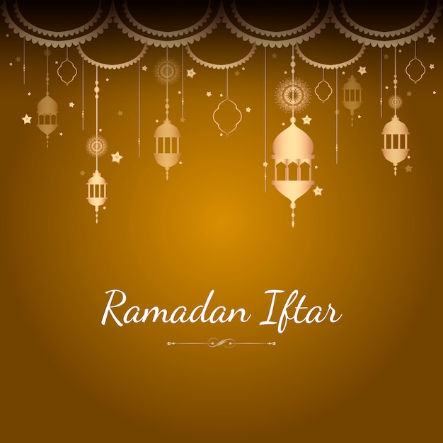 Illustration de la carte du ramadan Vecteur gratuit