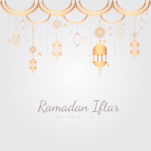 Illustration de la carte du ramadan Vecteur gratuit