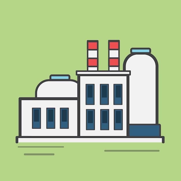 Illustration d'une centrale électrique Vecteur gratuit