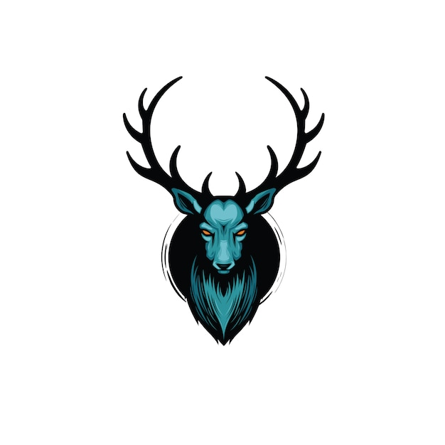 Illustration de cerf Vecteur Premium