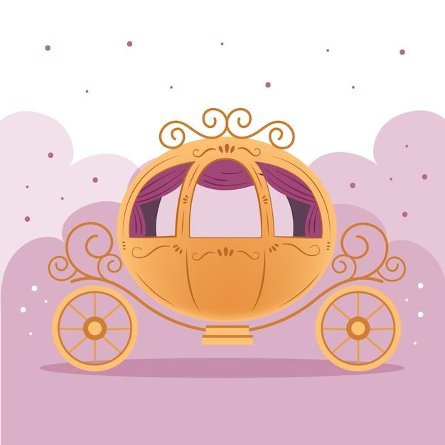 Illustration De Chariot De Conte De Fées Vecteur gratuit