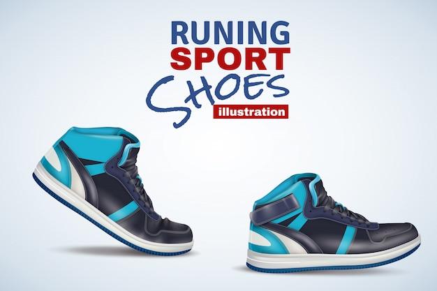 Illustration De Chaussures De Sport En Cours D'exécution Vecteur gratuit