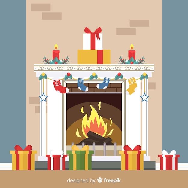 Illustration de la cheminée Vecteur gratuit