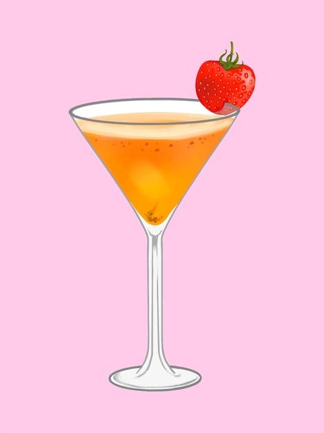 Illustration de cocktail de plage tropicale Vecteur gratuit
