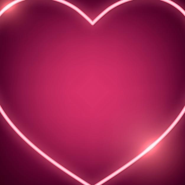 Illustration de coeur de néon Vecteur gratuit