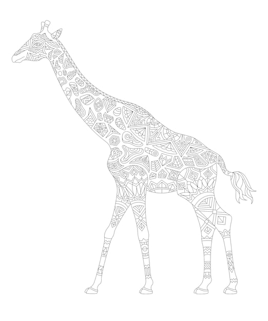 Illustration De Coloriage Animal Adulte | Vecteur Gratuite