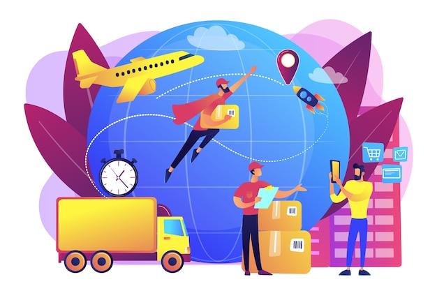 Illustration De Commande De Transport De Courrier Vecteur gratuit