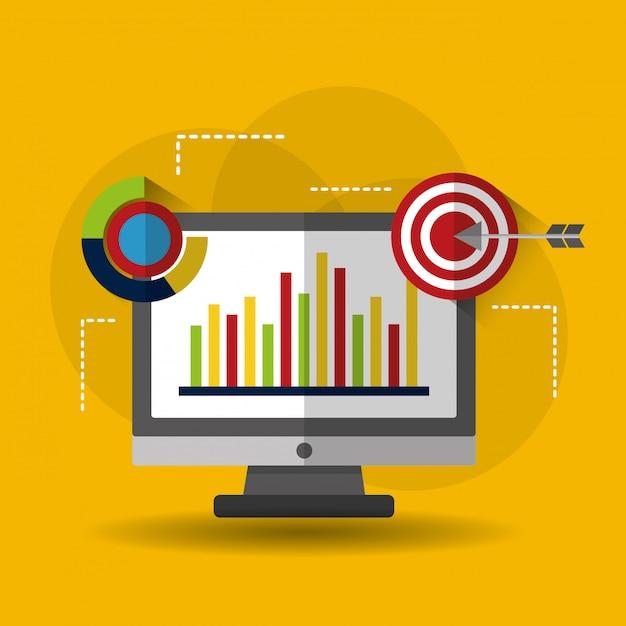 Illustration Commerciale De L'analyse De Données Statistiques Vecteur gratuit