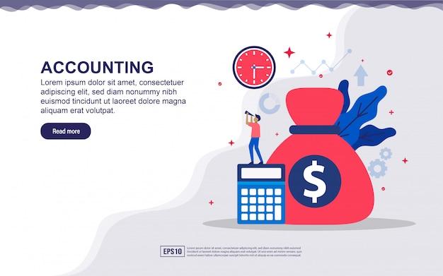 Illustration de comptabilité et financière avec Vecteur Premium