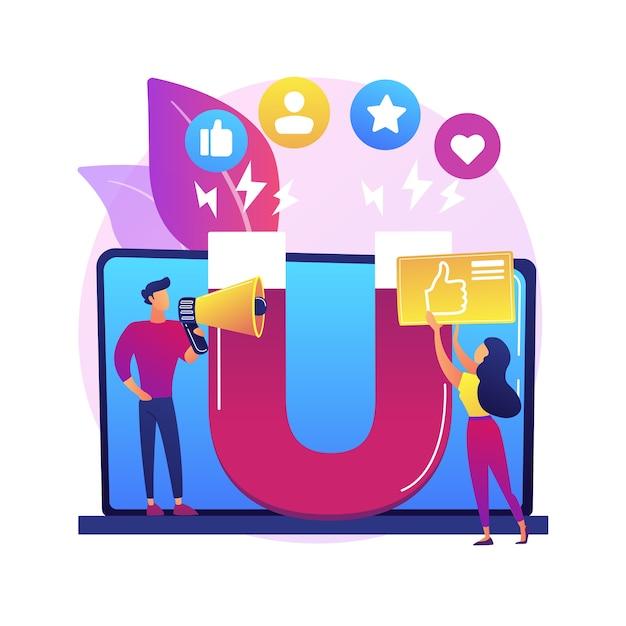 Illustration De Concept Abstrait Marketing D'engagement. Marketing Internet, Gestion De L'engagement, Participation Active, Commerce En Ligne, Stratégie Smm, Contenu Interactif Vecteur gratuit