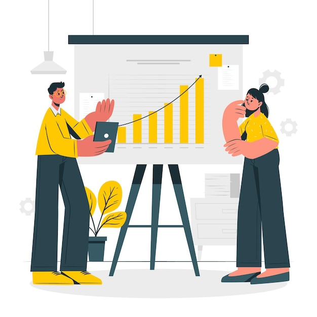 Illustration De Concept D'analyse De Croissance Vecteur gratuit