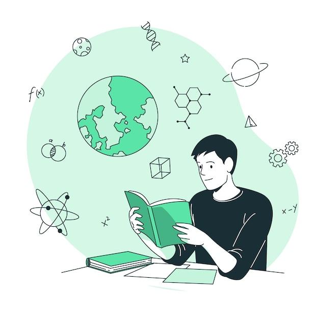 Illustration De Concept D'apprentissage Vecteur gratuit