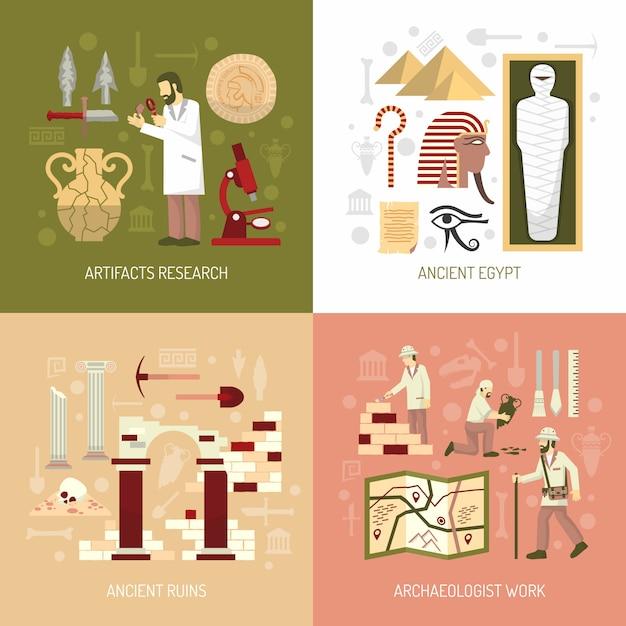 Illustration de concept d'archéologie Vecteur gratuit