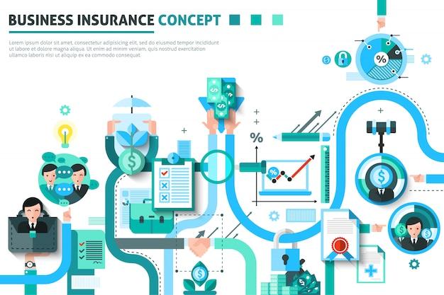 Illustration de concept d'assurance entreprise Vecteur gratuit