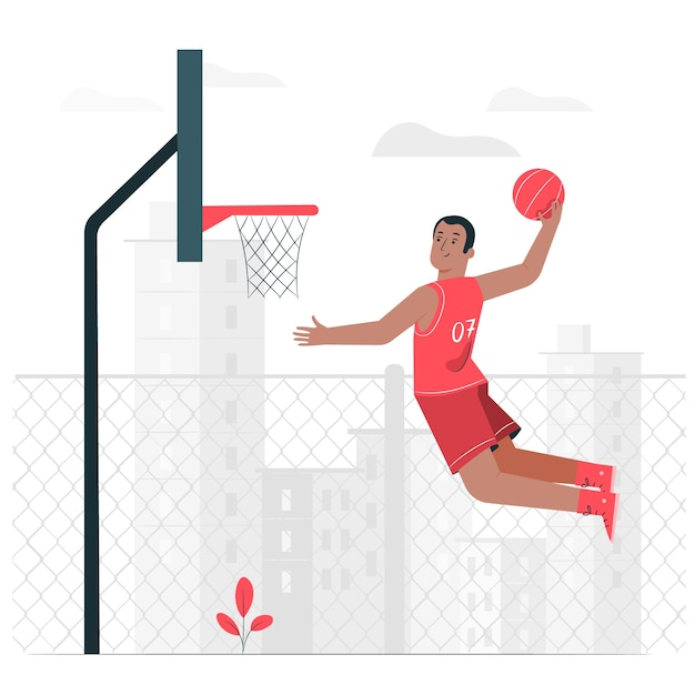 Illustration De Concept De Basket-ball Vecteur gratuit