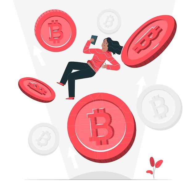 Illustration De Concept Bitcoin Vecteur gratuit