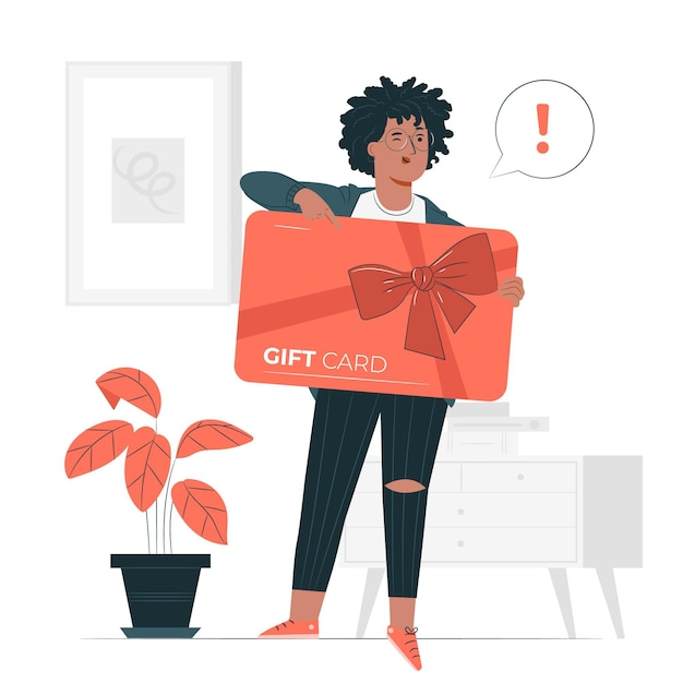 Illustration De Concept De Carte-cadeau Vecteur gratuit