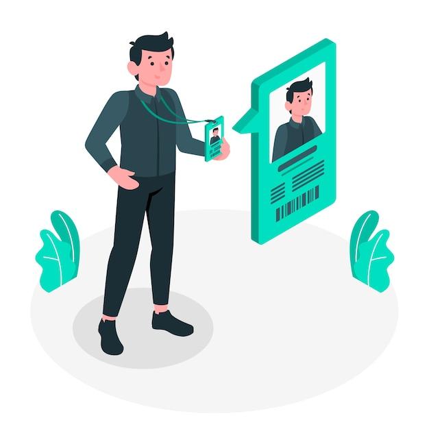 Illustration De Concept De Carte D'identité Vecteur gratuit