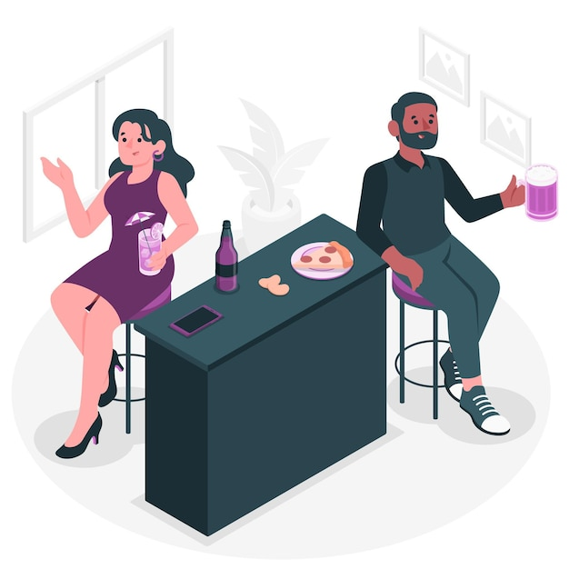 Illustration De Concept De Célibataires Vecteur gratuit