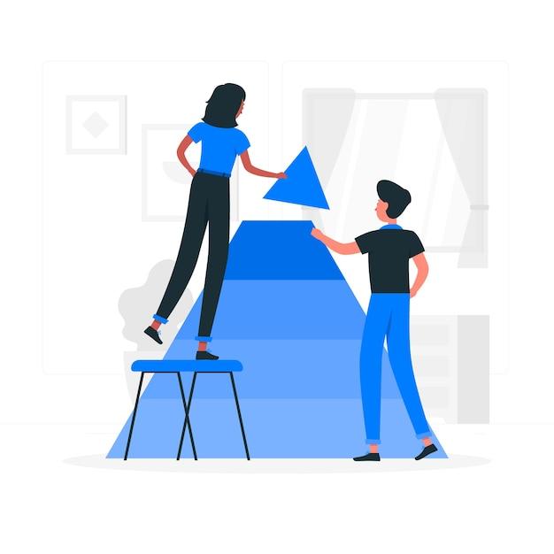 Illustration de concept de collaboration Vecteur gratuit
